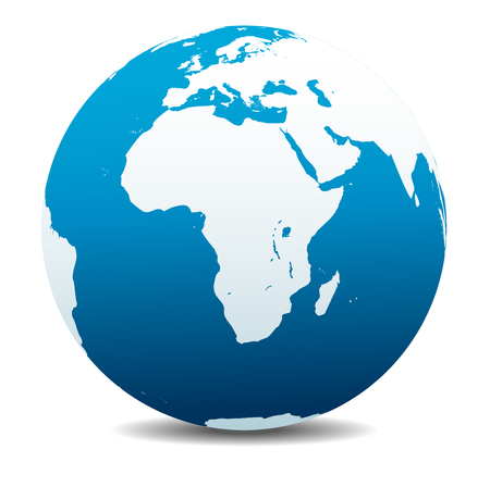 Africa, Arabia Global World Vectores