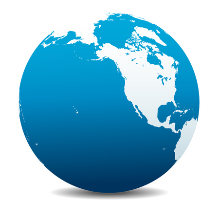 mapa de venezuela: Norteamérica, Canadá, Siberia y Hawai mundo global