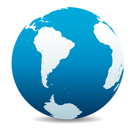 south pole: South America, South Pole and Africa Global World