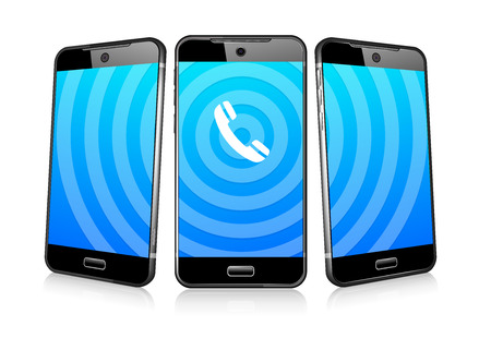 Phoning Ringing Icon Phone Cell Smart Mobile 3D and 2D