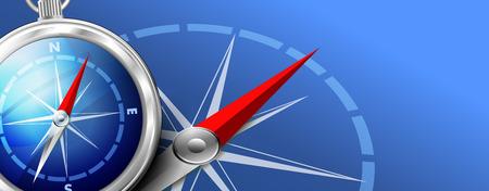 longitude: Compass Background Illustration