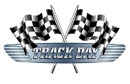 bandera carrera: Día de la pista a cuadros, banderas a cuadros Motor Racing