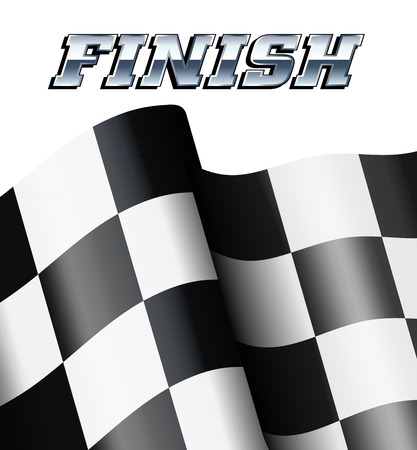 dragster: FINISH Background, Checkered, Chequered Flags Motor Racing Illustration
