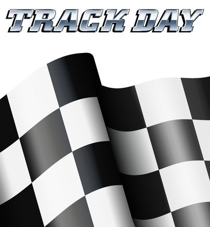 TRACK DAY geruit, Chequered Flag Motor Racing Stock Illustratie