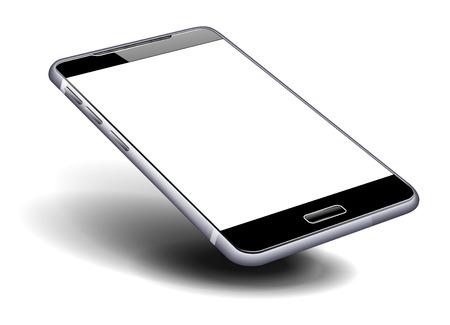 Phone Cell Smart Mobile high detailed illustration Vettoriali