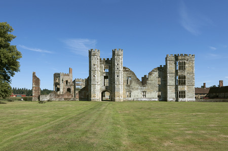 west sussex: Cowdray Castle Ruins, West Sussex, England