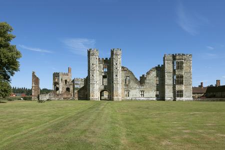 tudor: Cowdray Castle Ruins, West Sussex, England