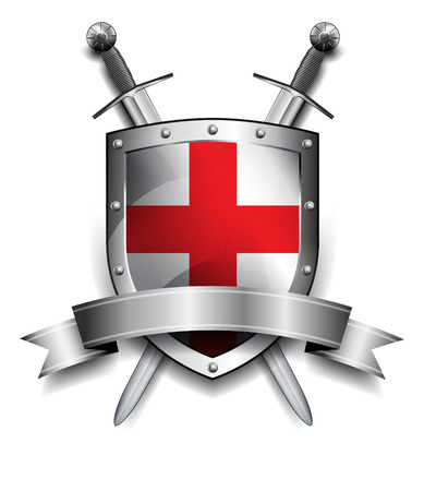 Shield with Crossed Swords Illustration
