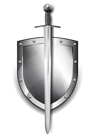 antivirus: Silver Shield depicting protection Antivirus security firewall Illustration