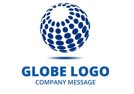 通信: 抽象的なグローブのロゴ