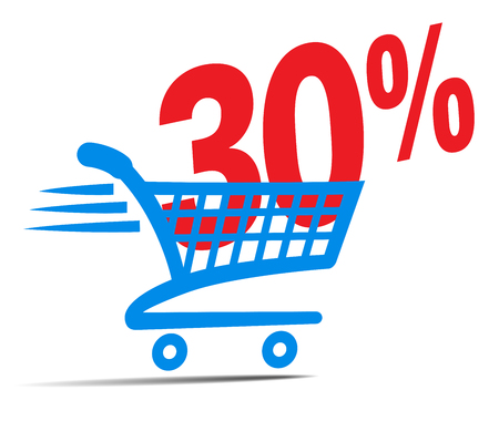 shopper: Check Out Cart SALE Icon Symbol with 35 Percent
