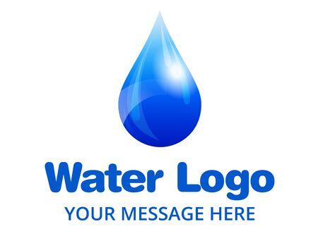 recycling symbols: Water Drop Logo Illustration