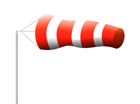Wind Sock, air wind direction Illustration