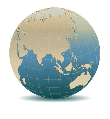 antique: Retro Style China, Japan, Malaysia, Thailand, Indonesia, Global World, Elements of this image furnished by NASA