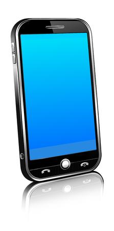 Phone Cell Smart Mobile 3D Vector illustration.