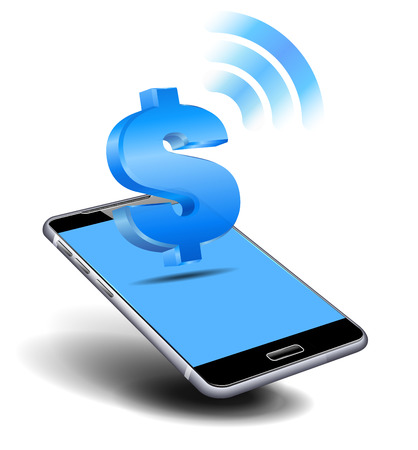 Pay Cash, Dollar by Cell, Mobile Smart Phone