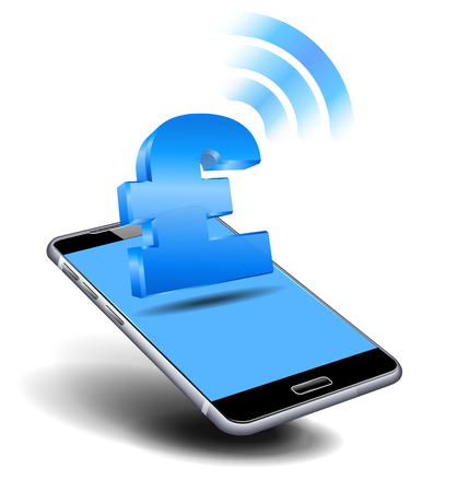 Pay Cash, Pound by Cell, Mobile Smart Phone