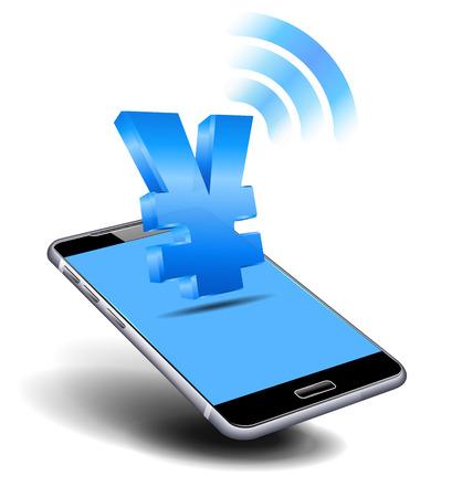 cash: Pay Cash, Yuan, Yen, by Cell, Mobile Smart Phone