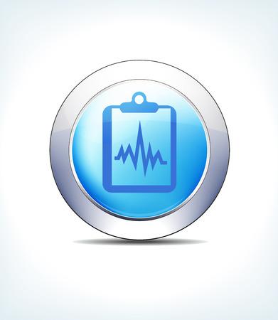 Blue medical relate icon design Illustration