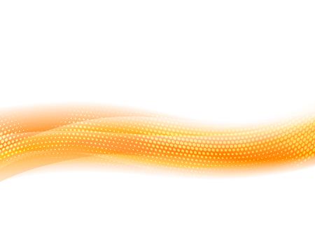 Orange Flowing Abstract Vector Wave Background for Website, Folder or Brochure Cover Illustration