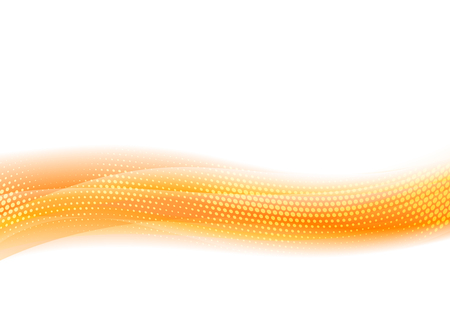 Orange Flowing Abstract Vector Wave Background for Website, Folder or Brochure Cover Illustration