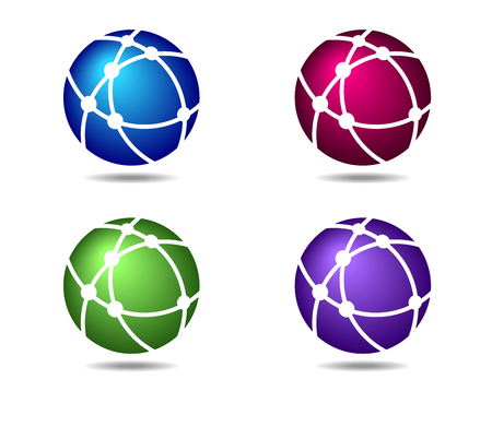 Networks Globe Connections Symbols Icons