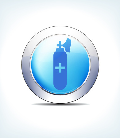 Blue Icon Button Gas and Air Cylinders, for use in your Healthcare and Pharmaceutical presentations.