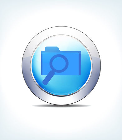 Blue icon button patient records file search for use in your healthcare and pharmaceutical presentations. Illustration