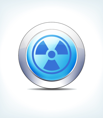 Blue icon button radiation for use in your healthcare and pharmaceutical presentations.