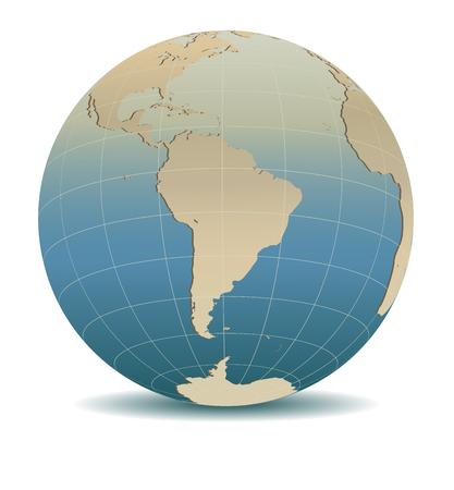 Retro Style South America Global World