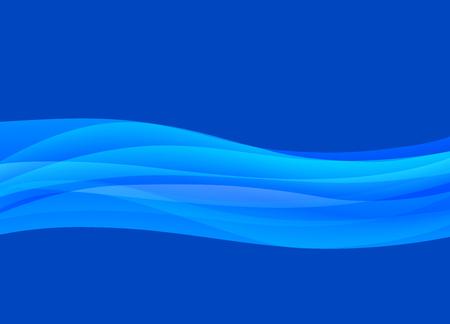 Blue Wave Flowing Background Illustration