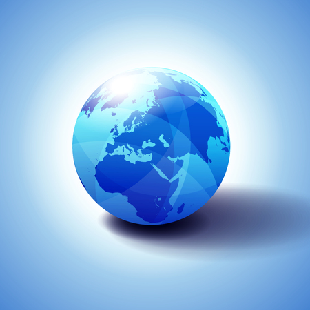 Middle East, Russia, Europe, and Africa, Background with Globe Icon 3D illustration 일러스트