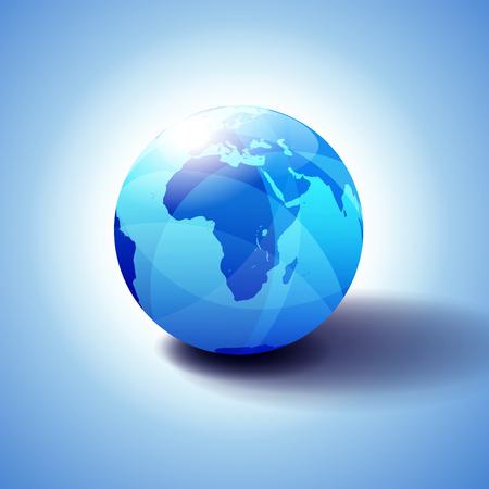 Africa, Arabia Background with Globe Icon 3D illustration 일러스트