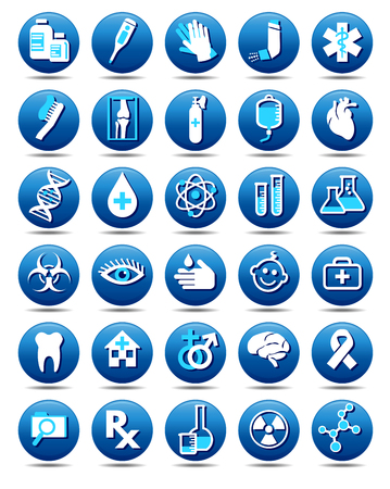 Medical Healthcare Icons Collection, Symbols Set of vector Medical Healthcare Icons, Stylish Pharmaceutical Symbols, for use in your products and presentations.