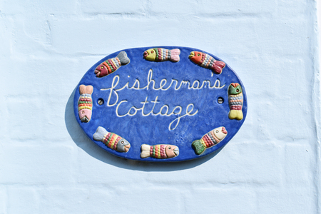 Fishermans Cottage house sign with Fish