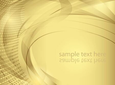 Abstract vector background in golden tones Illustration