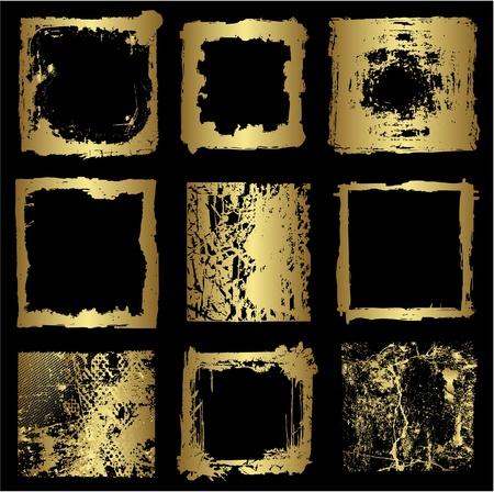 Different gold frames