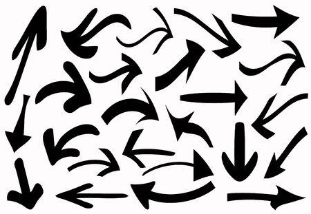 Wavy arrows collection  Stock Vector - 10922317