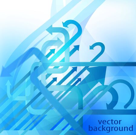 Arrows background in blue Vector