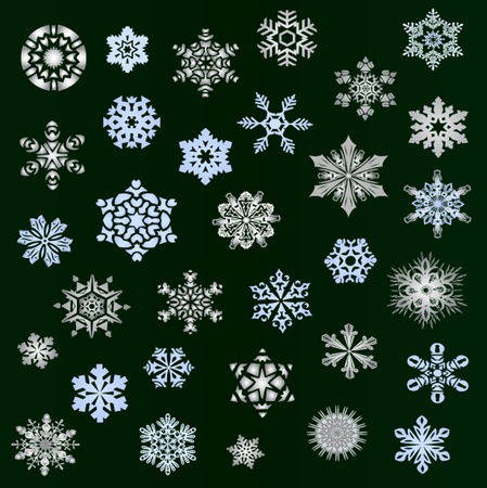 Snowflakes - new set november 2011 Vector