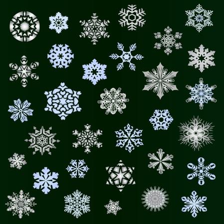 Snowflakes - new set november 2011 Vector