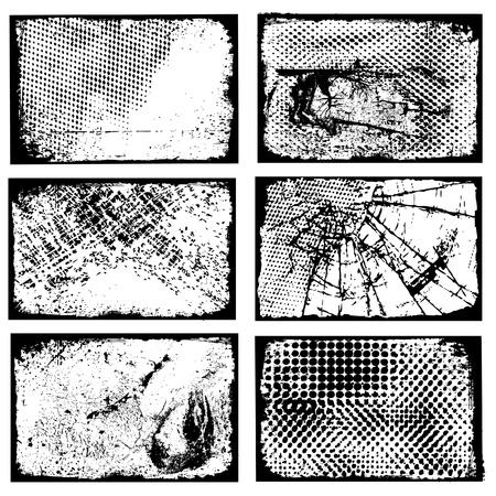 distressed: Different grunge frames