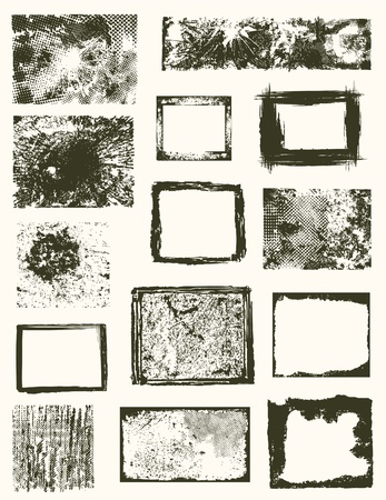 Various grunge frames  Illustration
