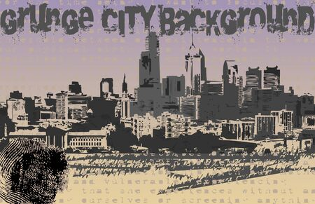 Grunge City Background  Vector
