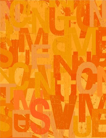 Grunge background in warm orange colors Vector