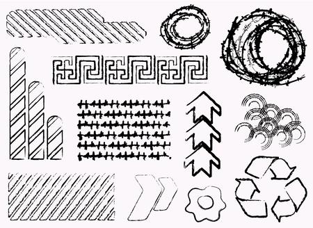 Different grunge elements  Vector