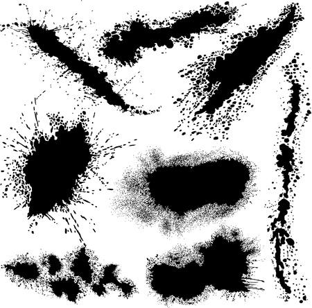 bloodstain: Different splashes Illustration