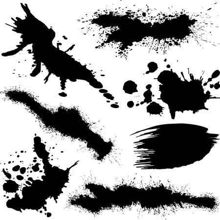Splatters Various Vector