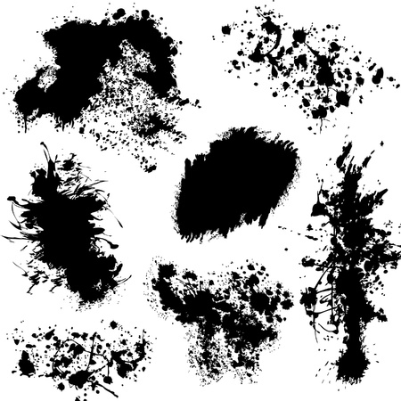 Various splatters  Vector