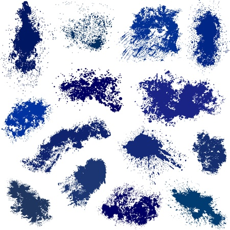 Different blue spots Vector